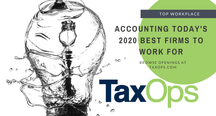 TaxOps Named 2020 Best Firms to Work For by Accounting Today