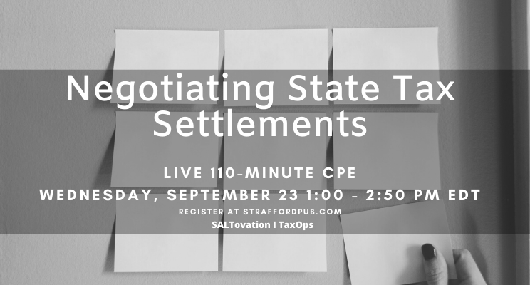Negotiating State Tax Settlements CPE