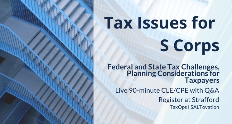 Tax Issues for S Corps