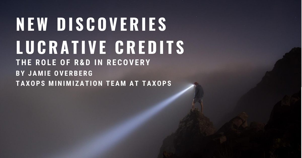 New Discoveries, Lucrative Credits: R&D in Recovery